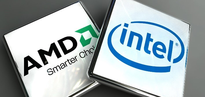 A custom desktop may have AMD or Intel processors
