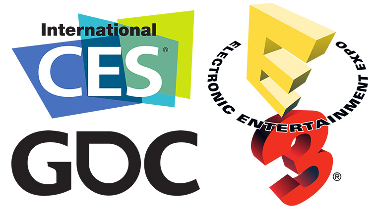 trade shows E3 GDC CES
